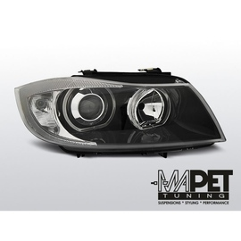 BMW E90 / E91  Angel Eyes BLACK diodowe Ringi LED  - DEPO / FK LPBME4