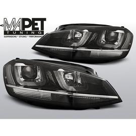 VW Golf 7 - BLACK LED DRL dzienne - z chromowanym paskiem LPVWM1
