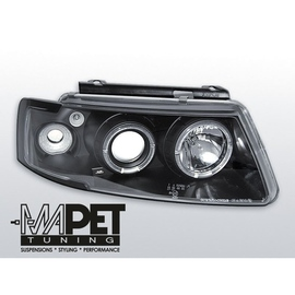 VW Passat B5 3B clear Angel Eyes BLACK soczewka ringi LPVW13