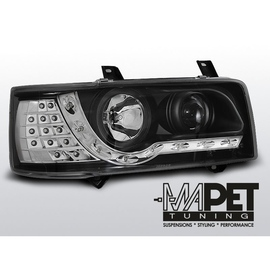 VW T4 Transporter 90-03 DayLight BLACK LED kierunek LED LPVWF1