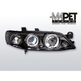Opel Vectra B 95-98  clearglass BLACK Angel Eyes  LPOP21