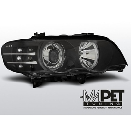 BMW E53 X5 Angel Eyes BLACK Ringi Xenon D2S FK kierunkowskaz LED