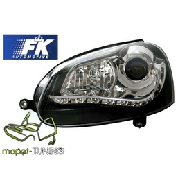 VW Golf 5 / Jetta - BLACK LED - Bi-halogen diodowe LPVWG5