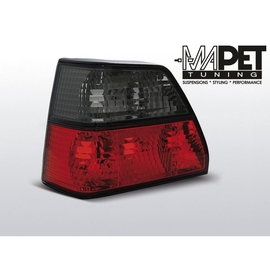VW Golf 2 clearglass  Red / Black  Czerwono - Czarne  FK LTVW96