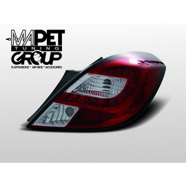 Opel Corsa D 3d - LED Red / White - diodowe  LDOP34