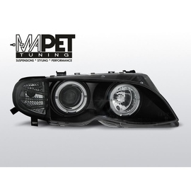 BMW E46 Sedan / Touring 01-05  CLEAR ANGEL EYES BLACK LPBMA0