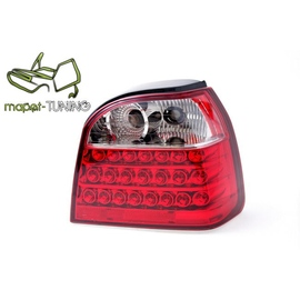VW Golf 3  - clearglass LED Red/White - diodowe  LDVW10
