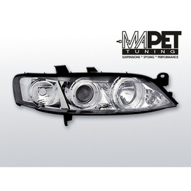 Opel Vectra B 99-02 clearglass Chrom Angel Eyes LPOP22