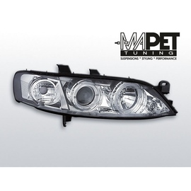 Opel Vectra B 95-98 clearglass Chrom Angel Eyes  LPOP20