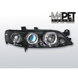 Opel Vectra B 99-02 clearglass BLACK Angel Eyes LPOP23